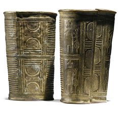 Africa | Pair of armlets from the Igbo people of Nigeria | Brass alloy | ca. 1970 or earlier | Est. 7,000 - 10,000$