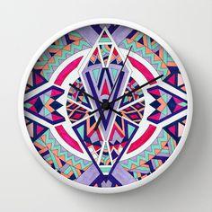 Abstract Journey II Wall Clock #wallclock #clock #decor #Decorideas #accentdecor #Geometric #geometricdecor #moderndecor