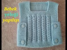 baby vest making (voice narration from start to finish) - Kindermode Baby Cardigan Knitting Pattern, Easy Knitting Patterns, Knitting Designs, Baby Knitting, Knit Baby Dress, Crochet Baby Clothes, Baby Pullover, Baby Coat, Baby Sweaters