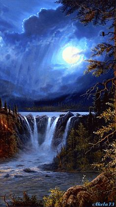 The perfect Waterfall Animated GIF for your conversation. Discover and Share the best GIFs on Tenor. Beautiful Moon, Beautiful Places, Beautiful Pictures, Amazing Places, Amazing Gifs, Amazing Nature, Beautiful Waterfalls, Beautiful Landscapes, Gif Bonito