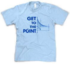 Get To The Point T Shirt Funny Math Graph Tee