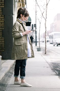 Something about this is so perfect for spring. (Photo by Vincent Tsang) #Outfits #Streetstyle