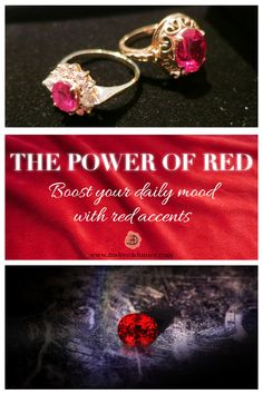 What is meaning and use of the red color and what is its magic effect on our minds? Boost your mood with a spicy color, the color of boldness and energy. Red Color Meaning, Daily Mood, Color Meanings, Coloring Tutorial, Color Psychology, Red Accents, Accent Decor, Heart Ring, Tutorials