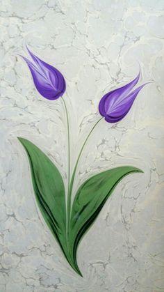 Ebru Art, Flower Drawings, Marble Art, Ikebana, Botanical Prints, Acrylics, Decoupage, Illustration Art, Calligraphy