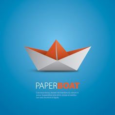 Paper Boat Vector Graphic