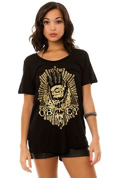 The All Eye Tee in Black by Obey  22.95 sale neeed!