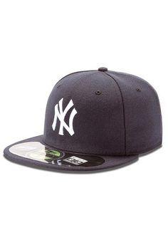 NY Yankees New Era Mens Navy Blue AC 5950 Fitted Hat Yankees T Shirt 82c98a8904ef