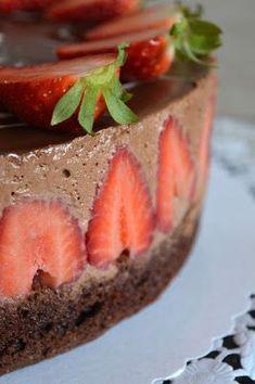 Schoko-Erdbeer-Mousse-Torte.