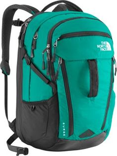 The North Face Women's Surge Laptop Backpack Kokomo Green/Asphalt Grey - via eBags.com!