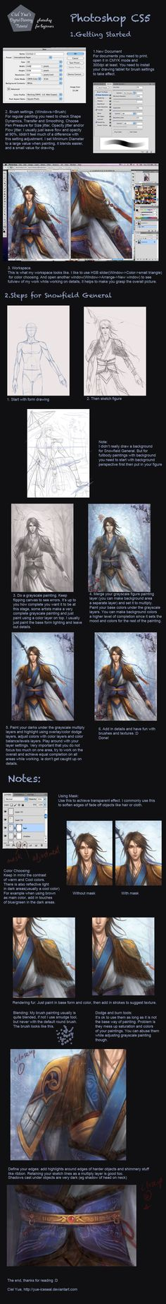 Photoshop Painting Tutorial by Yue-Iceseal.deviantart.com on @DeviantArt