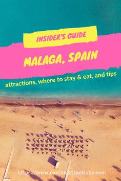 An insider's guide to Malaga, Spain  – discover the top things to see, where to eat and where to stay in Malaga and tips from a resident in this ultimate guide to Malaga. Save this pin for later.  #tourist #attractions in #Malaga, #Spain #travelguide #travel #Europe