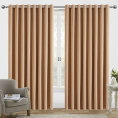 ☞ Set of two blackout window panel curtains. ☞ Coordinating tiebacks included. ☞ 100-percent polyester fabric. ☞ Thermal insulated. ☞ Energy saving. ☞ Machine washable. ☞ Compatible with standard or decorative rods and brackets. ☞ Easy installation. ☞Buy matching blackout pencil pleat curtains available in 6 standard UK sizes.