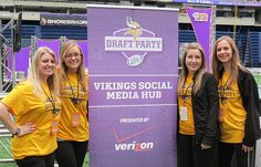 December 2012: UMD Marketing Students Win Vikings Draft Party Competition