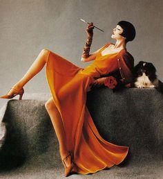 Nadja Auermann by Mario Testino for Harper's Bazaar US, August 1993.