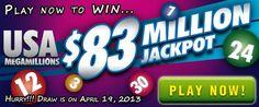 USA Megamillions Rollover: US$ 83M Jackpot on April 19