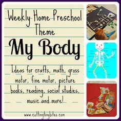 Cutting Tiny Bites: Weekly Home Preschool Theme- My Body