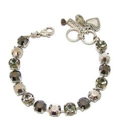 Mariana Clear Black Antique Silver Plated Swarovski Crystal Tennis Bracelet 75 *** Details can be found by clicking on the image.