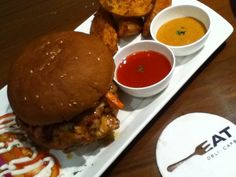Chicken Burger @ EAT Deli Cafe,Mumbai