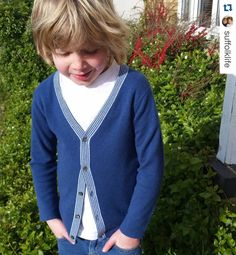 How handsome does Joe look in our cashmere Frank cardigan? Thank you for sharing this!