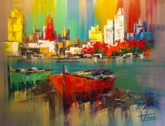 Resultado de imagen para pinturas con espatula abstractas