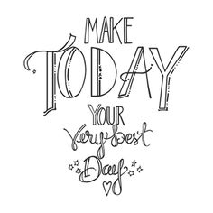 SBS-037 Spellbinders Cling Stamps Tammy Tutterow Designs MAKE TODAY YOUR BEST DAY