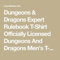 Dungeons & Dragons Expert Rulebook T-Shirt Officially Licensed Dungeons And Dragons Men's T-shirt Brand Icon, Holiday List, Dungeons And Dragons, T Shirt, Supreme T Shirt, Tee Shirt, Tee