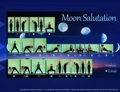 Moon Salutation - which includes goddess and side goddess lunge - dig it. My Yoga, Yoga Flow, Yoga Meditation, Vinyasa Yoga Poses, Yoga Sequences, Iyengar Yoga, Yoga Moon Salutation, Beautiful Yoga Poses, Surya Namaskar