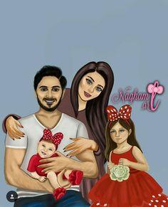 Mother Daughter Art, Mother Art, Girly M, Love Cartoon Couple, Cute Couple Art, Sarra Art, Best Friend Drawings, Family Drawing, Easy Canvas Art