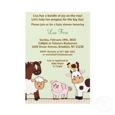 Farm Babies Farm Animals Baby Shower Invitations (10-pack)