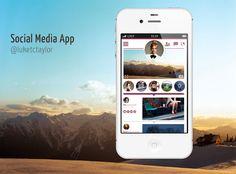 Social Media App by Luke Taylor #app #design #mobile #ux #ui #dribble