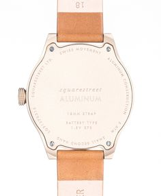 Squarestreet - SQ31 Aluminum Watch AS-01 - Hinten