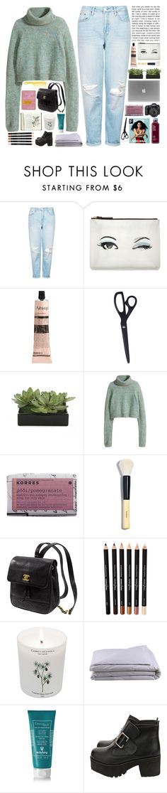 """pastrami & cheese sandwich"" by pinksweetpea ❤ liked on Polyvore featuring Topshop, Kate Spade, Aesop, HAY, Lux-Art Silks, H&M, Korres, Eos, Bobbi Brown Cosmetics and Carriere"