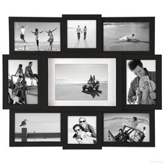 4b678aa2a47 Black 9-opening collage frame for 4x4 4x6 5x7 prints by Malden®