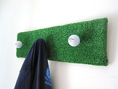 Golf / Upcycled / Garment Rack $35.00, via Etsy.   A little cheesy, but cute for a golfer's garage! might have to DIY this one for Christmas 2012...