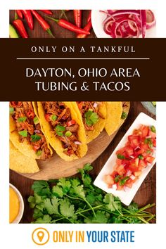 Enjoy the best water tubing and delicious tacos in Western Ohio near Dayton. This day trip is perfect for summer fun. Tacos Menu, Double Kayak, Best Bucket List, Water Tube, The Buckeye State, Down The River, Hidden Beach, Natural Wonders, Day Trip