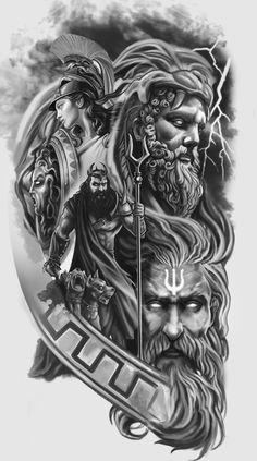 Full Arm Sleeve Tattoo, Viking Tattoo Sleeve, Best Sleeve Tattoos, Viking Tattoos, Tattoo Sleeve Designs, Tattoo Designs Men, Leg Tattoos, Body Art Tattoos, Tattoos For Guys