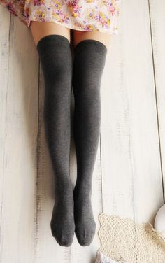 Retro Plaid Over Knee Socks
