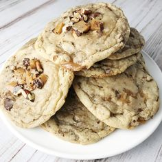 Toffee Chunk Cookies - Kelly Lynn's Sweets and Treats