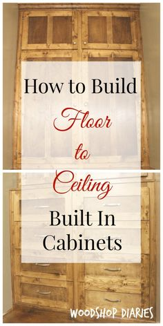 How to Build Floor to Ceiling Built Ins 2019 How to build your own DIY floor to ceiling built ins. Free building tutorial and tips for building your own built ins The post How to Build Floor to Ceiling Built Ins 2019 appeared first on Woodworking ideas.