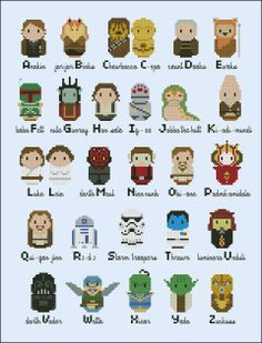 Star Wars alphabet sampler - Cross Stitch Patterns - CloudsFactory