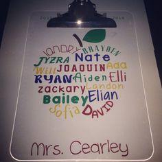 Personalized Teacher's Clipboard