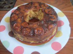 Delícia de pudim de pão com banana wwweunacozinha.blogspot.com