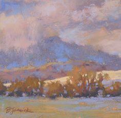 Outdoor Show by Barbara Jaenicke Pastel ~ 6 x 6
