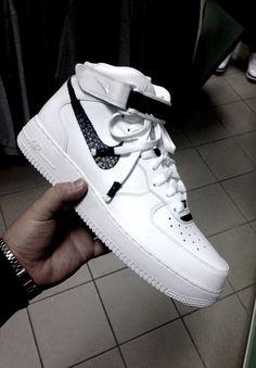 White Nike Air Force 1's