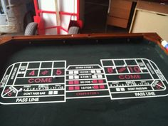 Brand New Gaming Table  For Poker, Blackjack, Roulette, and Craps Plus 4 Chairs