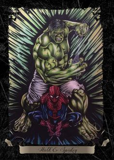 #Hulk #Fan #Art. (Hulk And Spidey) By: Mattmcintosh. ÅWESOMENESS!!!™ ÅÅÅ+