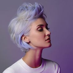 We're obsessed with this lavender hair!