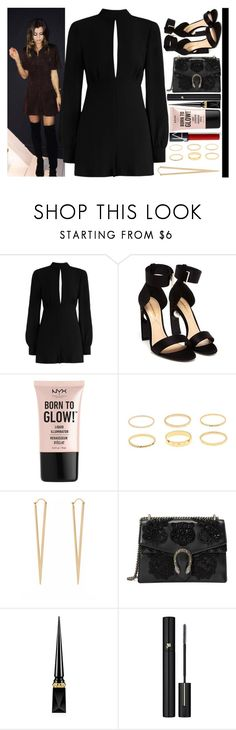 """""""With Eleanor Calder"""" by angelbrubisc ❤ liked on Polyvore featuring Calder, Zimmermann, Nicholas Kirkwood, NYX, Jules Smith, Gucci, Christian Louboutin and Lancôme"""