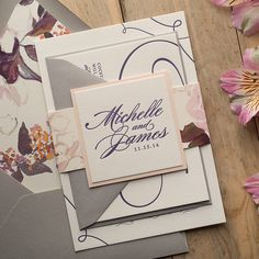 LAUREN Suite Floral Package, beautiful blush watercolor floral wedding invitations that are perfect for your rustic or elegant wedding this spring and summer. Our best selling design gets a new treatment! Letterpress, purple, plum, blush, pink, grey, burgundy. ON SALE FOR BLACK FRIDAY!