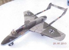 WWII Focke-Wulf Project VII Flitzer Fighter Free Aircraft Paper Model Download…